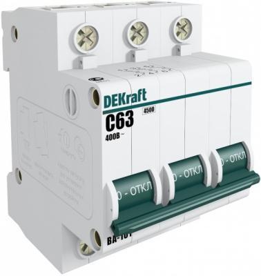 Автоматический выключатель Schneider Electric 3Р 40А х-ка C ВА-101 4.5кА DEKraft 11082DEK