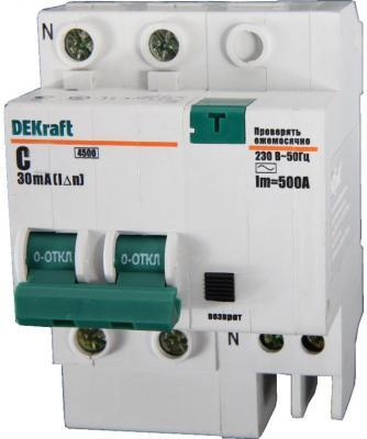 Выключатель дифференциального тока DeKraft 2П 25A 30мА AC 15005DEK