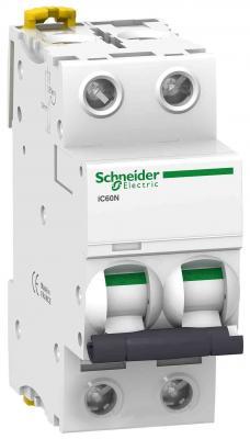 Автоматический выключатель Schneider Electric iC60N 2П 63A C A9F79263 автоматический выключатель schneider electric ic60n 2п 63a c a9f79263