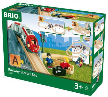 Железная дорога Brio Стартовый набор - А с 3-х лет железная дорога brio 2 уровневая с вокзалом с 3 х лет