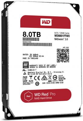 Жесткий диск 3.5 8 Tb 7200rpm 128Mb cache Western Digital Red Pro SATAIII WD8001FFWX 400 gb 7200rpm 8mb cache seagate 7200 8 st3400832as ncq