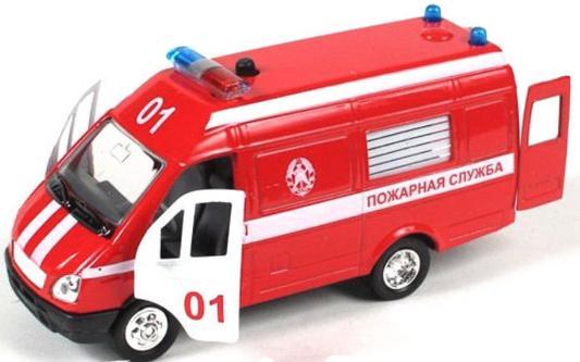 """Машина Joy Toy """"Автопарк"""" - Газель 3221 пожарная красный 23 см 1:27"""