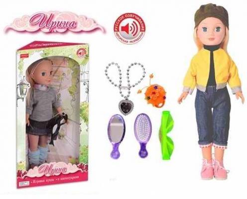 Кукла Zhorya Ирина с аксессуарами со звуком поющая говорящая ZY288886 кукла zhorya ирина х76251