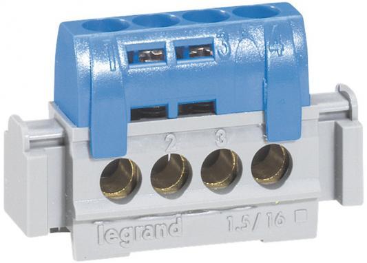 Клеммная колодка Legrand  4х1.5-16мм нейтраль 04840