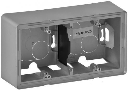 Коробка Legrand Valena Life для накладного монтажа 2-постовая алюминий 754212