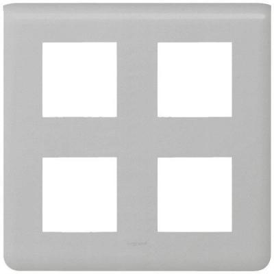 рамка-legrand-mosaic-алюминий-79338