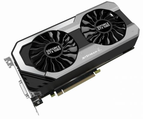 Видеокарта 6144Mb Palit GeForce GTX1060 Super JetStream PCI-E 192bit GDDR5 DVI HDMI DP PA-GTX1060 Super Jetstream 6G Retail