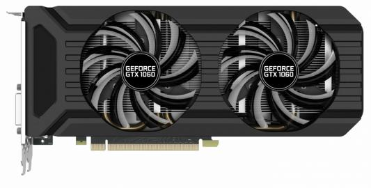 Видеокарта 6144Mb Palit GeForce GTX1060 Dual PCI-E 192bit GDDR5 DVI HDMI DP PA-GTX1060 Dual 6G Retail NE51060015J9-1061D видеокарта 6144 mb asus geforce gtx1060 pci e 192bit gddr5 dvi hdmi displayport strix gtx1060 6g gaming retail