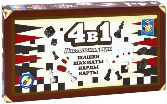 Настольная игра 1toy набор игр Шашки, шахматы, нарды, карты на магнитах Т52451 настольная игра нарды шахматы нарды дорожные в ассортименте а 1