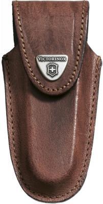 Чехол Victorinox 4.0537 кожаный для ножей 111мм толщиной 2-3 уровня коричневый
