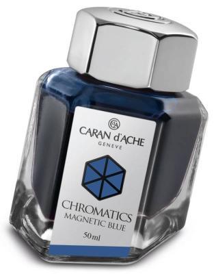 Флакон с чернилами Carandache Chromatics Magnetic Blue чернила синий 50мл 8011.149