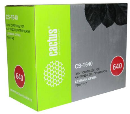 Картридж Cactus CS-T640 64016HE для Lexmark Optra T640/T642 черный 21000стр chip for lexmark optra x 656dte for lexmark 654mfp for lexmark optra ts 654 dn oem reset copier chips free shipping