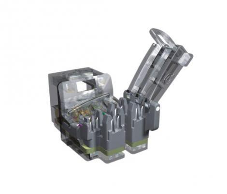 лучшая цена Модуль информационный Brand-Rex C6CJAKU002 RJ45 Cat6Plus кат.6 UTP монтаж без инструмента