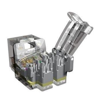 лучшая цена Модуль информационный Brand-Rex 10GPlus AC6JAKU002 Keystone RJ45 кат.6A серый