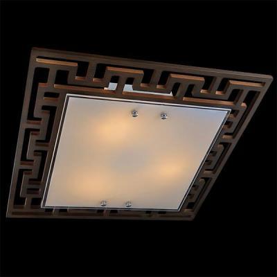 Потолочный светильник Eurosvet 2870/3 хром/венге цена и фото