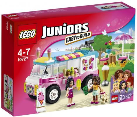 Конструктор LEGO Джуниорс Грузовик с мороженым Эммы 136 элементов 10727