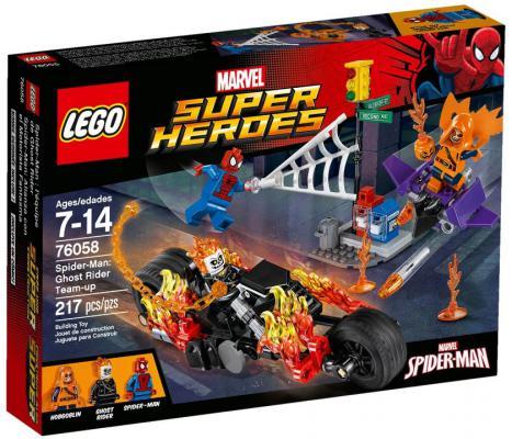 Конструктор Lego Super Heroes - Человек-паук : Союз с Призрачным гонщиком 217 элементов