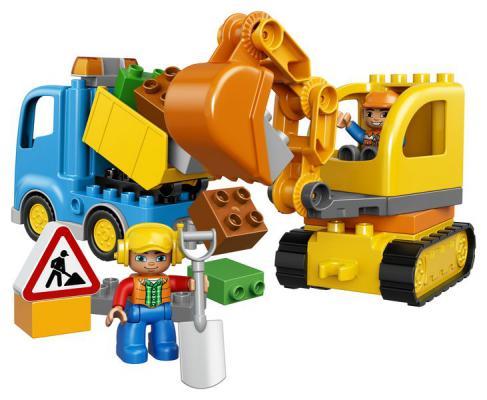 Конструктор Lego Duplo: Грузовик и гусеничный экскаватор 28 элементов 10812 lego duplo 10812 конструктор лего дупло грузовик и гусеничный экскаватор
