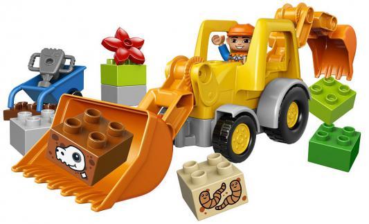 Конструктор Lego Duplo: Экскаватор-погрузчик 19 элементов 10811