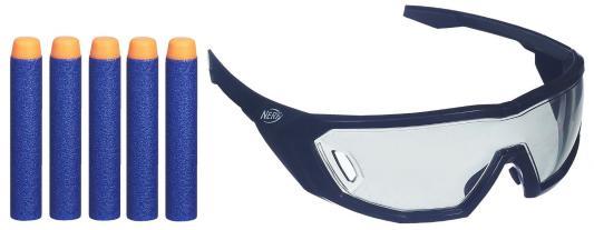 Набор Nerf Очки агента и 5 стрел nerf игрушка для собак nerf кольца резиновые с нейлоновой перемычкой 32 5 см