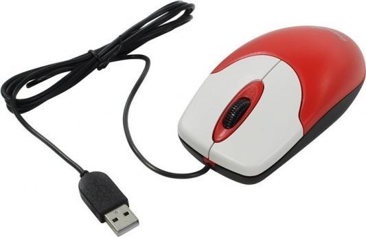 Мышь проводная Genius NetScroll 120 V2 красный USB