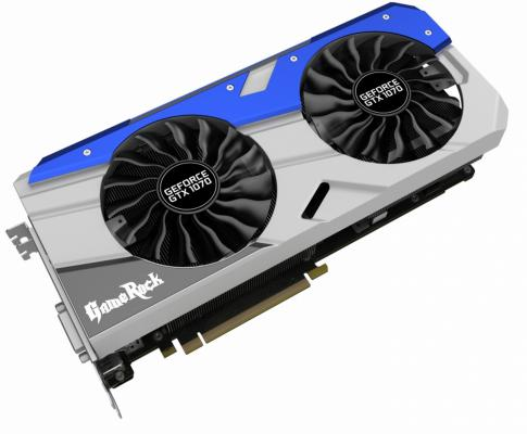 Видеокарта 8192Mb Palit GeForce GTX1070 GameRock PCI-E 256bit GDDR5 DVI HDMI DP PA-GTX1070 GameRock 8G Retail