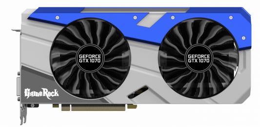 Видеокарта 8192Mb Palit GeForce GTX1070 GameRock  PCI-E 256bit GDDR5 DVI HDMI DP PA-GTX1070 GameRock 8G Retail NE51070T15P2-1041G