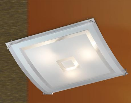 Потолочный светильник Sonex Cube 4120 sonex 4120 fbk06 091 белый хром потолочный светильник e27 4 60w 220v cube