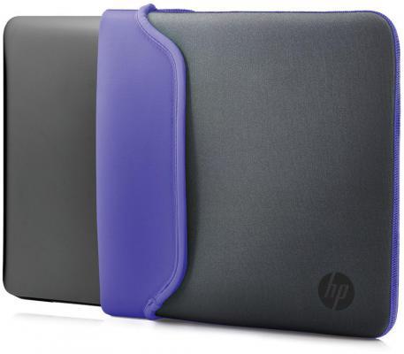 """Чехол для ноутбука 14"""" HP V5C28AA неопрен серый фиолетовый"""