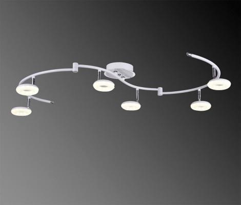 Светодиодный светильник IDLamp Bianca 390/6PF-LEDWhitechrome idlamp светодиодный спот idlamp bianca 390 6pf ledwhitechrome