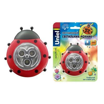 Светодиодный светильник Uniel (07717) DTL-354 Божья Коровка/Red/3LED/3AAA картридж hp 49a черный [q5949a]