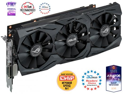 Видеокарта 6144Mb ASUS GeForce GTX1060 STRIX GAMING PCI-E 192bit GDDR5 DVI HDMI DP STRIX-GTX1060-O6G-GAMING Retail видеокарта 8192mb msi geforce gtx 1080 gaming x 8g pci e 256bit gddr5x dvi hdmi dp retail