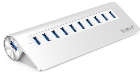 Концентратор USB 3.0 Orico M3H10-SV 10 x USB 3.0 серебристый