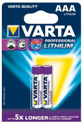 Батарейки Varta Professional Lithium AAA 2 шт батарейки varta professional lithium cr123a 2 шт