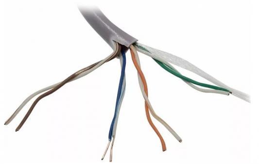 Кабель UTP 4 пары кат.5e Exegate EX138966RUS медь 305м pullbox серый сетевой кабель exegate utp 5e cca