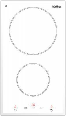 Варочная панель электрическая Korting HI 32003 BW белый