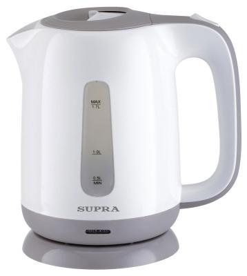 Чайник Supra KES-1724 2200 Вт белый серый 1.7 л пластик чайник supra kes 1838 2200 вт 1 8 л