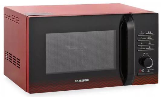 СВЧ Samsung MG23H3115PR/BW 800 Вт чёрный красный свч samsung ms23k3515ak 800 вт чёрный