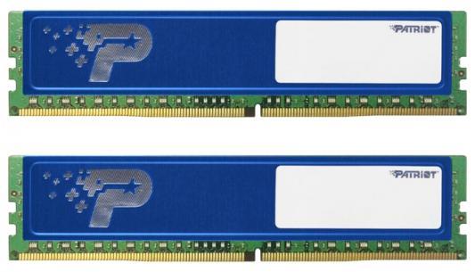 Оперативная память 16Gb (2x8Gb) PC4-17000 2133MHz DDR4 DIMM Patriot PSD416G2133KH оперативная память 16gb pc4 17000 2133mhz ddr4 dimm ecc samsung original m393a2g40eb1 cpb0q
