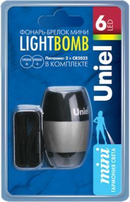 Карманный светодиодный фонарь Uniel (03272) от батареек 72 лм S-KL012-CB Silver