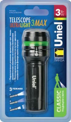 Ручной светодиодный фонарь Uniel (04781) от батареек 140 лм S-LD018-C Black