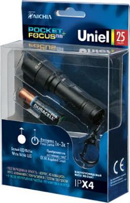 Ручной светодиодный фонарь Uniel (05142) от батареек 79х19 25 лм P-KL024-P Black