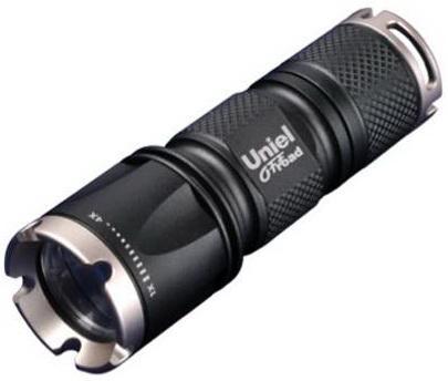 Ручной светодиодный фонарь Uniel (05722) от батареек 185 лм P-ML071-BB Black тактический светодиодный фонарь uniel 06597 от батареек 99х32 185 лм p gl013 bb black