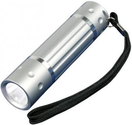 Ручной светодиодный фонарь Uniel (05940) от батареек 60 лм S-LD026-C Silver угол желоба внутренний grand line 125 90° коричневый металлический