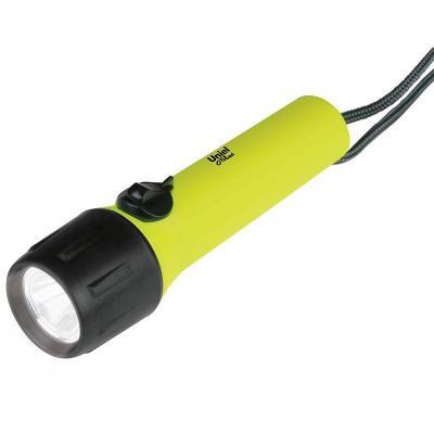 Карманный светодиодный фонарь Uniel (08789) от батареек 166х44 85 лм P-WP011-BB Yellow фонарь ручной uniel off road 08789