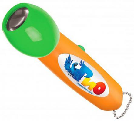 Детский светодиодный фонарь Uniel (09052) от батареек 90х25 R-PL703-B RIO1-51 ORANGE