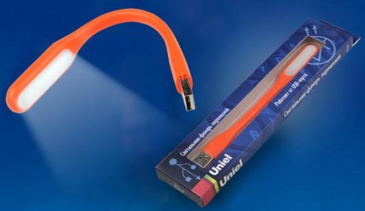 Переносной светодиодный фонарь Uniel (UL-00000252) Usb-зарядка 170х15 260 лм TLD-541 Orange