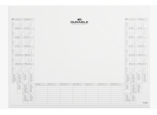 Настольное покрытие Durable 57х40.5см белый 7292-02