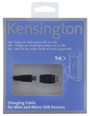 Кабель Kensington mini-USB для зарядки устройств с micro-USB адаптером K38061EU