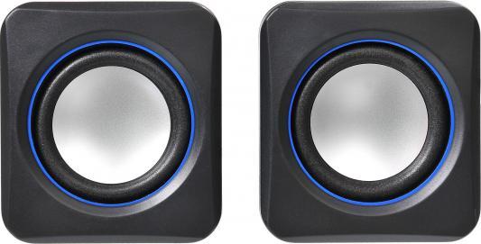 Колонки Oklick OK-301 2x1.25Вт черный/синий